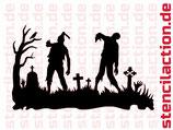 Schablone - Zombie Friedhof