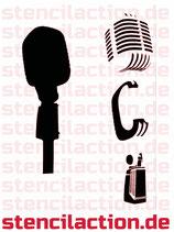Schablone - Mikrofon - 20x6 cm