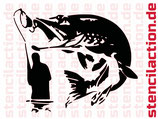 Schablone - Angler / Fishing