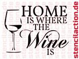 Schablone - Wine at Home - Shabby