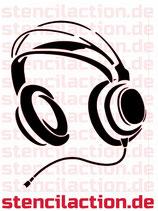 Schablone - Kopfhörer - 24x19 cm