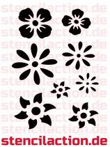 Schablone - Blumen - 27x18 cm