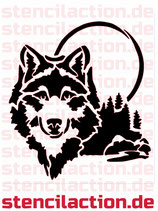 Schablone - Wolfskopf Wolf