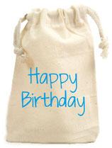 Zuziehbeutel klein Happy Birthday