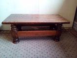 Donker-eiken massief houten rechthoekige salontafel | Art.nr: 0099