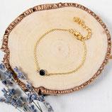 Black Crystal • Armkettchen | goldenes Armband | Armschmuck