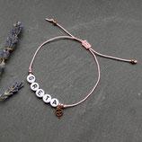 Namensarmband mit Kleeblatt • Armband Makramee | Farbwahl | Armschmuck | persönliches Armband | Glücksarmband