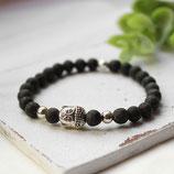Buddha • Lavaperlen | Armband silber
