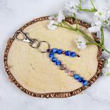 Initialen • Schlüsselanhänger Perlen | Farbwahl