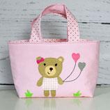 Kindertasche Bär mit Ballons | Wendetasche | Personalisiert