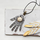 Hand der Fatima • Halskette silber | Boho