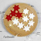 4er oder 7er Set gehäkelte Sterne zum Aufhängen ~ Baumschmuck | Weihnachten