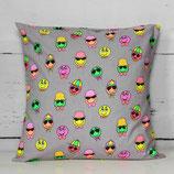 Coole Smileys ~ Kissenhülle 40x40cm | Print | Kinderzimmer