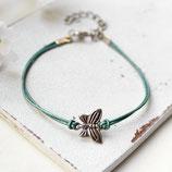 Kleiner Schmetterling • Armband Leder | Armschmuck | Farbwahl