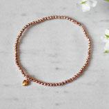 Hämatit & kleines Herz • Armband rosegold | Perlenarmband | Armschmuck
