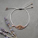 Lotus • Makramee Armband | Wunschfarbe | Armschmuck