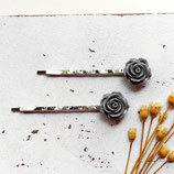 Grey Roses  • Haarklammern silber | Haarschmuck