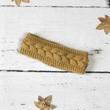 Gestricktes Stirnband ~ Zopfmuster | Herbst | Winter
