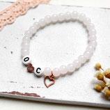 Initialen Armband • Herz | Perlenarmband | Armschmuck