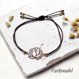 Lotusblüte • Armband Makramee | Armschmuck