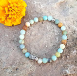 Buddha • Armband Amazonit | Perlenarmband | Edelsteinschmuck | Geschenkidee Frau