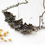 Blumenliebe • Halskette bronze   Statementkette