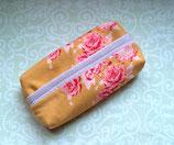 Taschentüchertasche Rosen rosa gold