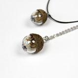 kleiner Naturgruß • Halskette mit Pusteblume und Eichelhütchen   Halsschmuck