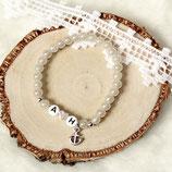 Initialen Armband • Anker & Herz | Perlenarmband | Armschmuck