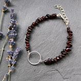 Granat • Armband Kreis | Schmuck silber | Edelsteinschmuck