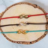 Infinity • Armband Leder | Wunschfarbe | Armschmuck | Freundschaftsarmband