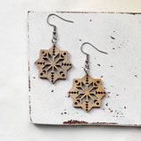 Stern • Ohrhänger Holz | Ohrschmuck | Weihnachten