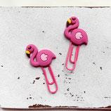 2er Set Büroklammern ~ Flamingo