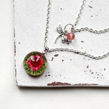 Blüte der Libelle • mehrreihige Halskette | Kette silber | Blütenschmuck