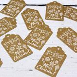 10er Set Geschenkanhänger ~ Merry Christmas   Papieranhänger   Weihnachten