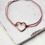 Herz • Armband roségold | Makramee | Farbwahl | Armschmuck