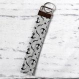 Anker Grau ~ Schlüsselanhänger | Schlüsselband | Taschenanhänger
