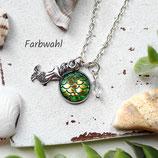 Schuppe der Meerjungfrau • Halskette silber | Kette Cabochon | Farbwahl | Halsschmuck