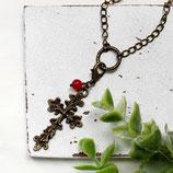 Kreuz • Halskette bronze   Halsschmuck