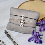 Buchstabenarmband • Makramee Armband | Wunschfarbe | Armschmuck | Freundschaftsarmband