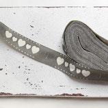1m Baumwollband - Herzen - 15mm