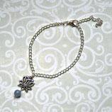 Serenity • Armband silber | Lotusblüte | Aquamarin