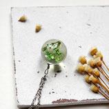 Green Flower • Halskette silber | echte Blüte | Naturschmuck