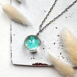 Blaue Blüte • Halskette silber | Blumenkette | Glas Schmuck