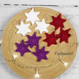3er oder 5er Set gehäkelte Sterne zum Aufhängen ~ Baumschmuck | Weihnachten
