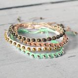 Makrameearmband mit Perlen • Farbwahl | Armschmuck