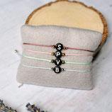 Buchstabenarmband • Armband Makramee | Wunschfarbe | Armschmuck