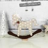 Schaukelpferd ~ Stoffdeko | Weihnachten