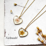 Blumenherz • Halskette gold | Blütenschmuck