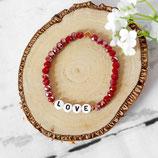 Love • Armband Perlen | Herz | Glasschmuck | Armschmuck